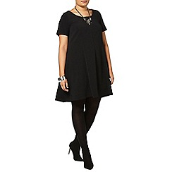 Evans - Black crepe swing dress