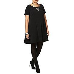 Evans - Black crepe swing dress