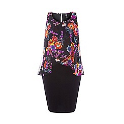 Evans - Floral print overlay dress