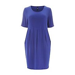Evans - Cobalt blue pocket dress