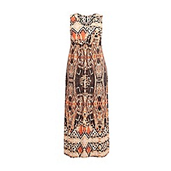 Evans - Orange printed maxi dress