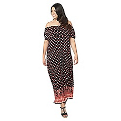 Evans - Black and red gypsy maxi dress