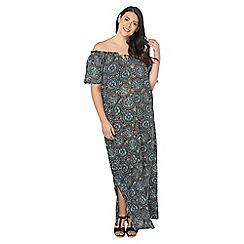 Evans - Green tile gypsy maxi dress