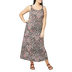 Evans - Black floral knot maxi dress