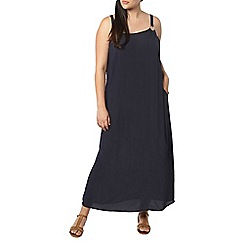 Evans - Navy blue strappy ring maxi dress