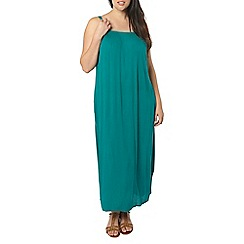 Evans - Green strappy ring maxi dress