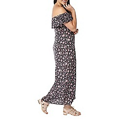Evans - Pink ditsy floral gypsy dress