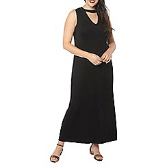 Evans - Black choker neck maxi dress