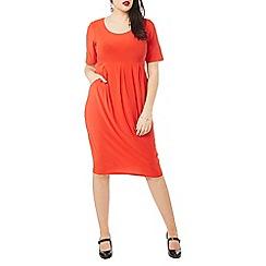 Evans - Red pocket dress