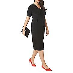 Evans - Black V-neck pocket dress