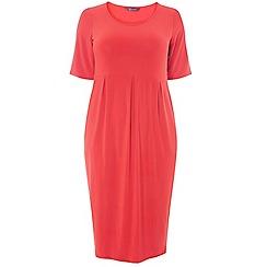 Evans - Orange tulip dress