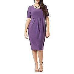 Evans - Purple long line pocket dress