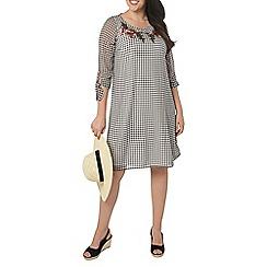 Evans - Black and white check dress