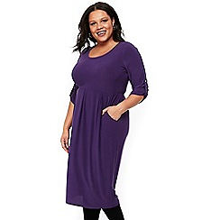 Evans - Purple jersey shift dress