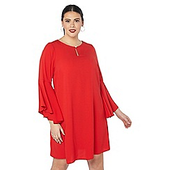 Evans - Red pearl keyhole dress