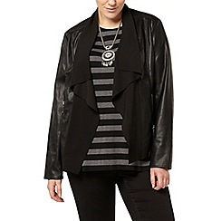 Evans - Black pu waterfall jacket
