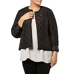 Evans - Black quilted liner jacket