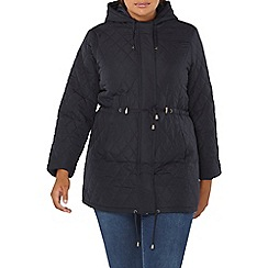 Evans - Navy blue quilted coat
