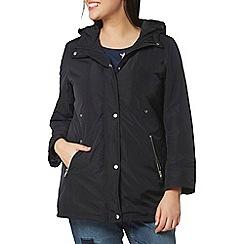 Evans - Navy blue hooded coat