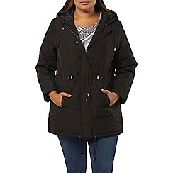 Evans - Black pear fit quilted coat