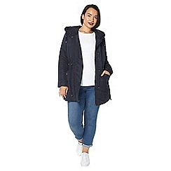 Evans - Navy blue soft padded coat