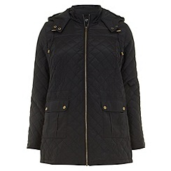 Evans - Black quilted jacket