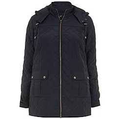 Evans - Navy quilted jacket