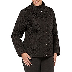 Evans - Black quilted short jacket