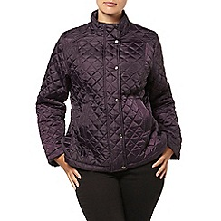 Evans - Purple quilted short jacket