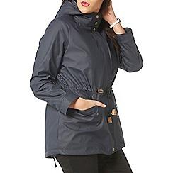Evans - Navy blue hooded parka
