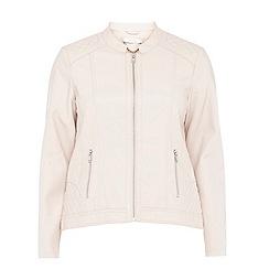 Evans - Blush pu biker jacket