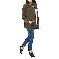 Evans - Khaki zip trim coat