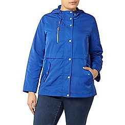 Evans - Blue hooded coat