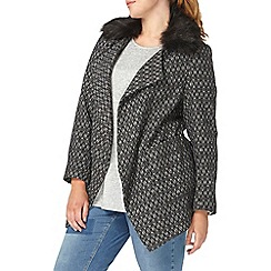 Evans - Grey fur collar jacket