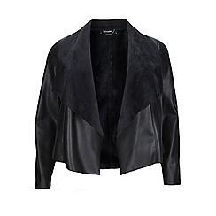 Evans - Black pu waterfall jacket