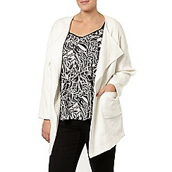 Evans - Ivory textured throw on coat