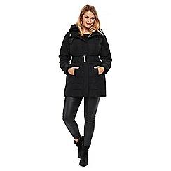 Evans - Black padded coat