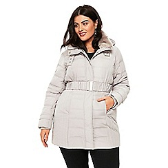 Evans - Silver padded coat