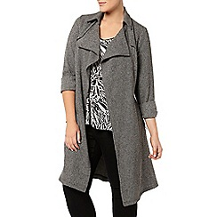 Evans - Grey textured trench coat