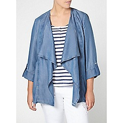 Evans - Denim waterfall jacket