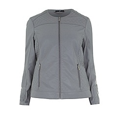 Evans - Grey pu biker style jacket