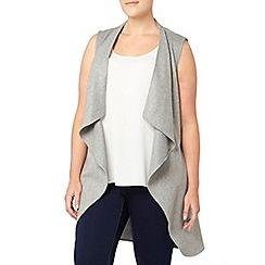 Evans - Grey belted sleeveless coat