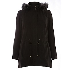 Evans - Black pear fit wool touch coat