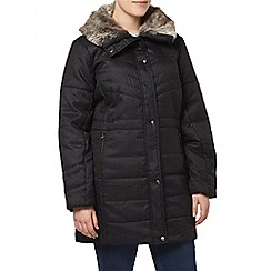 Evans - Grey textured padded coat
