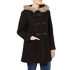 Evans - Black toggle duffle coat