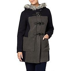 Evans - Navy and grey duffle coat