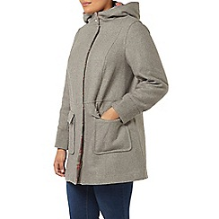 Evans - Grey double faced duffle coat