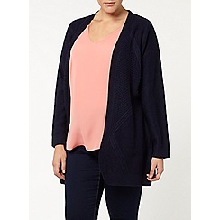 Evans - Navy cable back cardigan