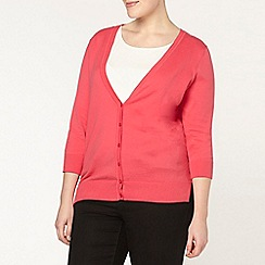 Evans - Pink button through cardigan