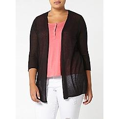 Evans - Black pattern back cardigan